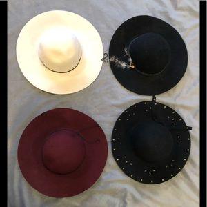NWT hat bundle floppy fall autumn black